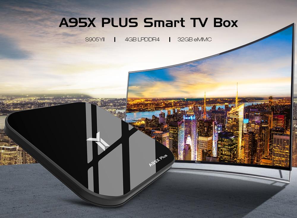 ТВ приставка A95X Plus Smart TV Box 4/32 Гб