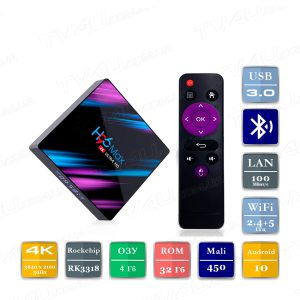H96 MAX 4/32 Гб Android 10 Smart TV Box ТВ приставка