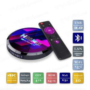 H96 Max X4 4/64 Гб Android 10 Smart TV Box ТВ приставка