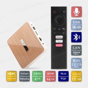 Mecool KM6 Deluxe 4/64 Гб Android TV 10 Smart TV Box ТВ приставка