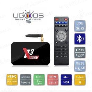 Ugoos X3 Cube 2/16 Гб Smart TV Box ТВ приставка