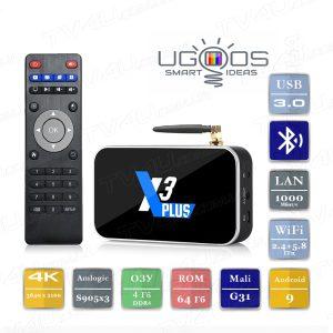 Ugoos X3 PLUS 4/64 Гб Smart TV Box ТВ приставка