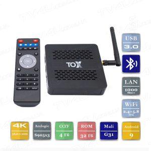 TOX1 4/32 Гб Smart TV Box ТВ приставка