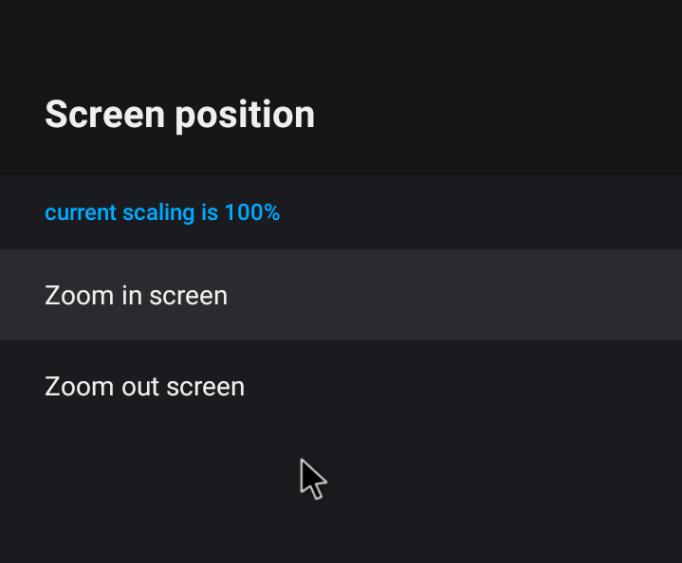 screen position
